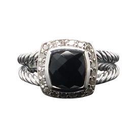 David Yurman Black Onyx & Diamonds Ring