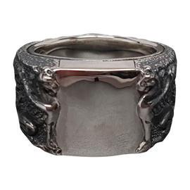 David Yurman Petrvs Griffin Signet 925 Sterling Ring