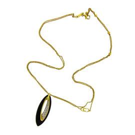 Chimento 18K Yellow Gold 0.28ct Pave Set Diamond Necklace