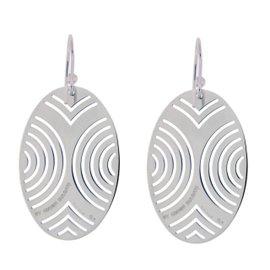 Enigma Sterling Silver Oval Earrings