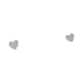 Tiffany & Co.Metro Heart 18K White Gold Earrings