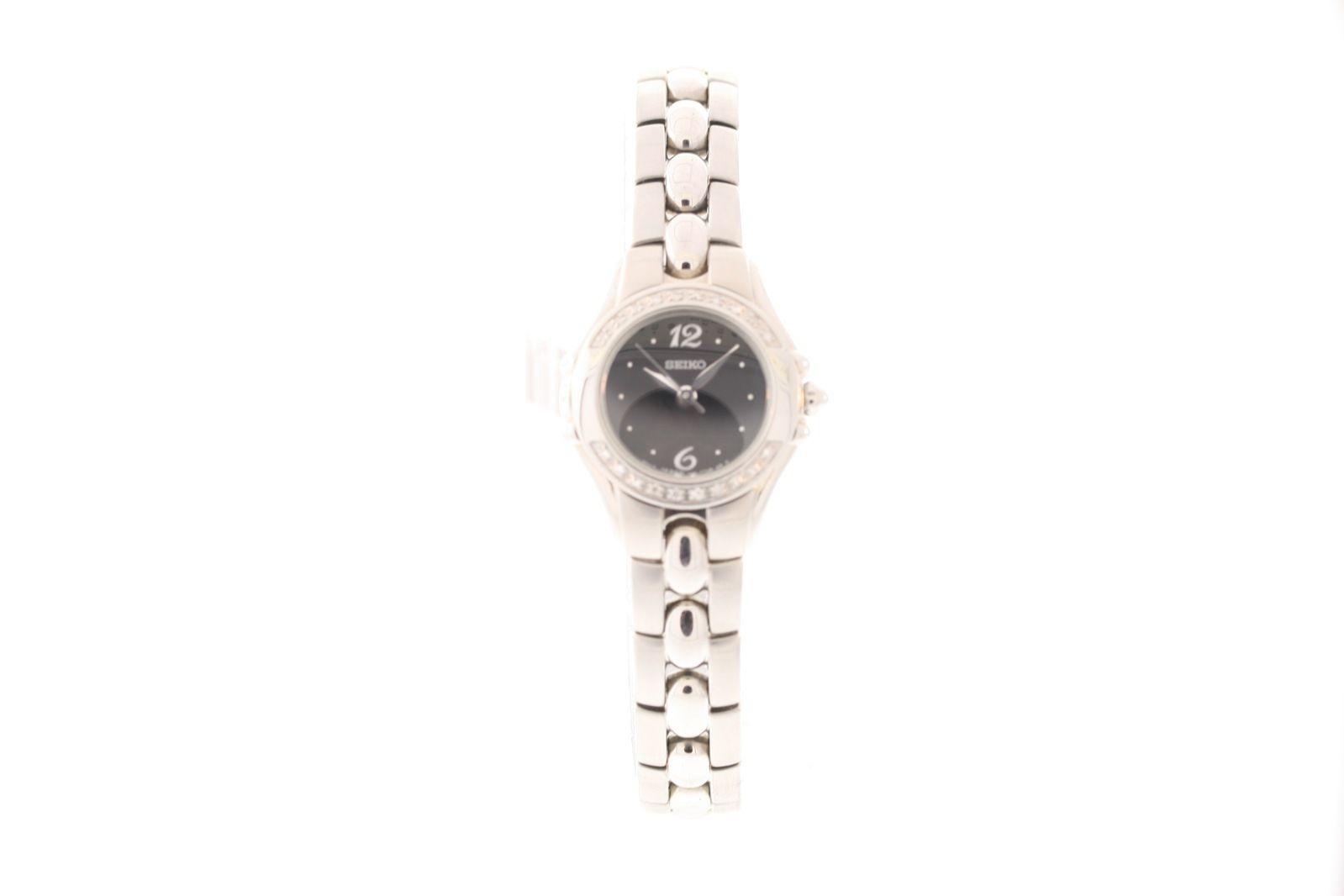 "Image of ""Seiko Sxgn15 Stainless Steel with Diamond Quartz 23mm Womens Watch"""