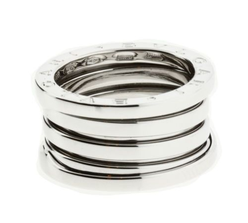 "Image of ""Bulgari 18K White Gold 4 Band Ring"""