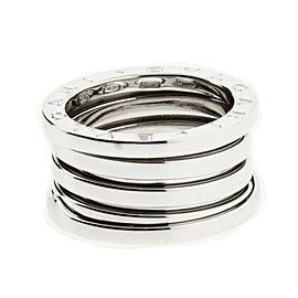 Bulgari 18K White Gold 4 Band Ring