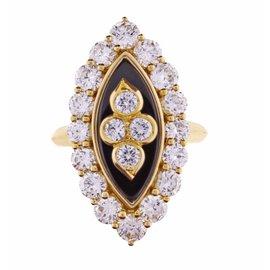 Van Cleef & Arpels 18K Yellow Gold Diamond Ring