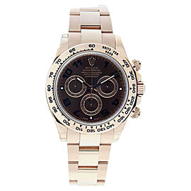 Rolex Daytona 116505 Everose Rose Gold Chocolate Arabic Dial Mens Watch
