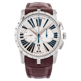 Roger Dubuis Excalibur 42 RDDBEX0388 Stainless Steel & Leather 42mm Watch