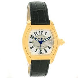 Cartier Roadster W62005V2 18K Yellow Gold Silver Dial Watch