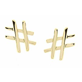 Tiffany & Co. 18K Yellow Gold Paloma Picasso Tic Tac Toe Earrings