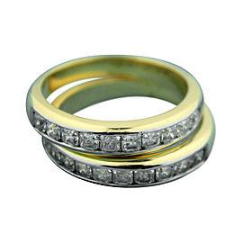 Tiffany & Co. 18K Yellow Gold & Platinum Lucida Diamond Band Ring