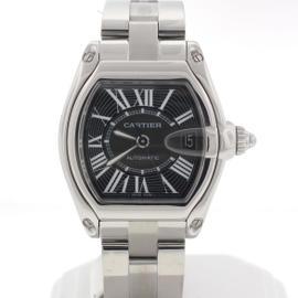 Cartier Roadster 262041V3 Black Roman Dial 44mm Steel Watch