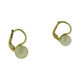 Mikimoto Gold Akoya Pearl Earrings in 18k Yellow Gold