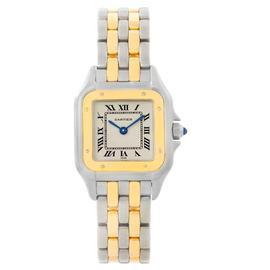 Cartier Panthere W25029B6 Stainless Steel & 18K Yellow Gold Womens Watch