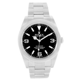 Rolex Explorer I 214270 Stainless Steel Black Dial Automatic Mens 39mm Watch