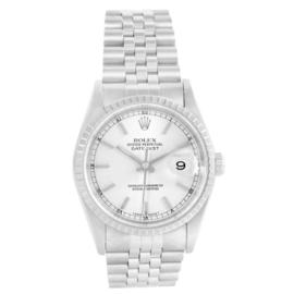 Rolex Datejust 16220 Steel Silver Dial Jubilee Bracelet Mens 36mm Watch