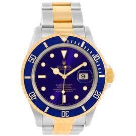 Rolex Submariner 16613 Steel/18K Yellow Gold Blue Dial Mens 40mm Watch