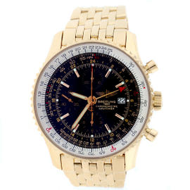 Breitling Navitimer World H24322 18K Rose Gold 46mm Watch