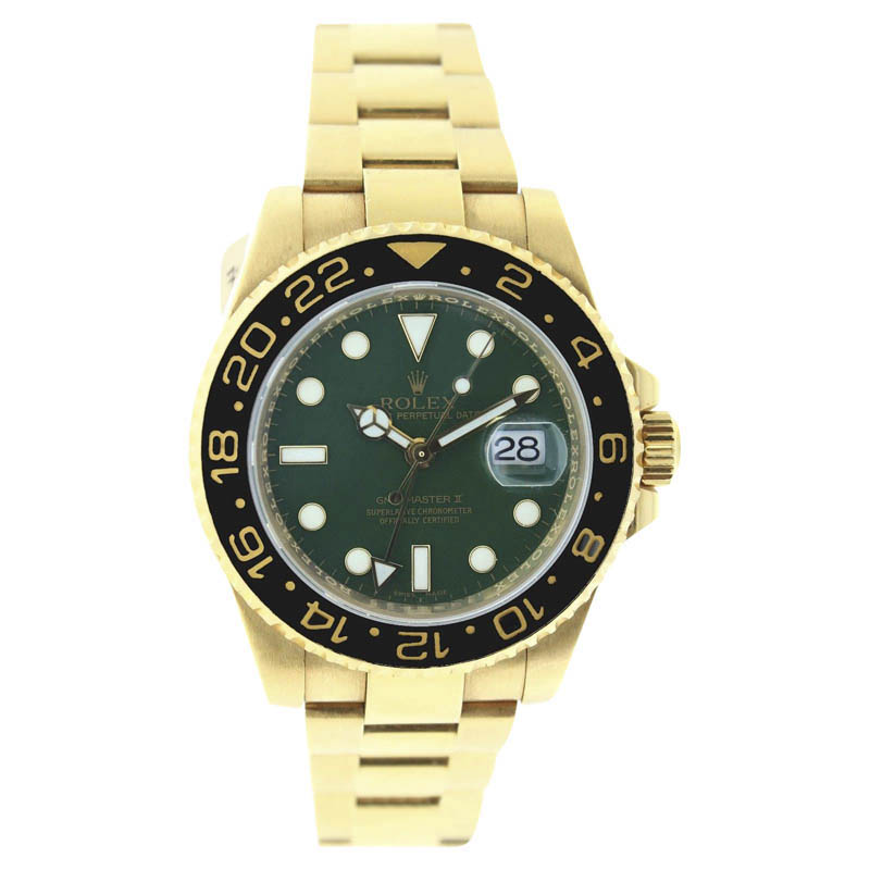 "Image of ""Rolex GMT Master 116718 18k Yellow Gold 40mm Mens Watch"""