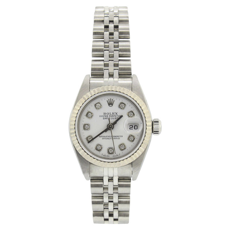 """Image of """"Rolex Datejust 6916 Stainless Steel Jubilee White Diamond Dial 18K"""""""