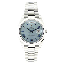 Rolex President 228206 Platinum Day-Date Ice Blue Quadrant Dial 40mm Watch