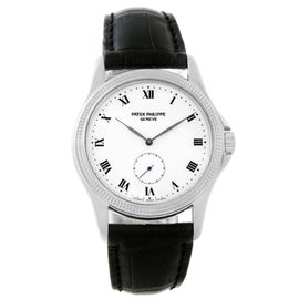 Patek Philippe Calatrava 5115 18K White Gold 35mm Mens Watch