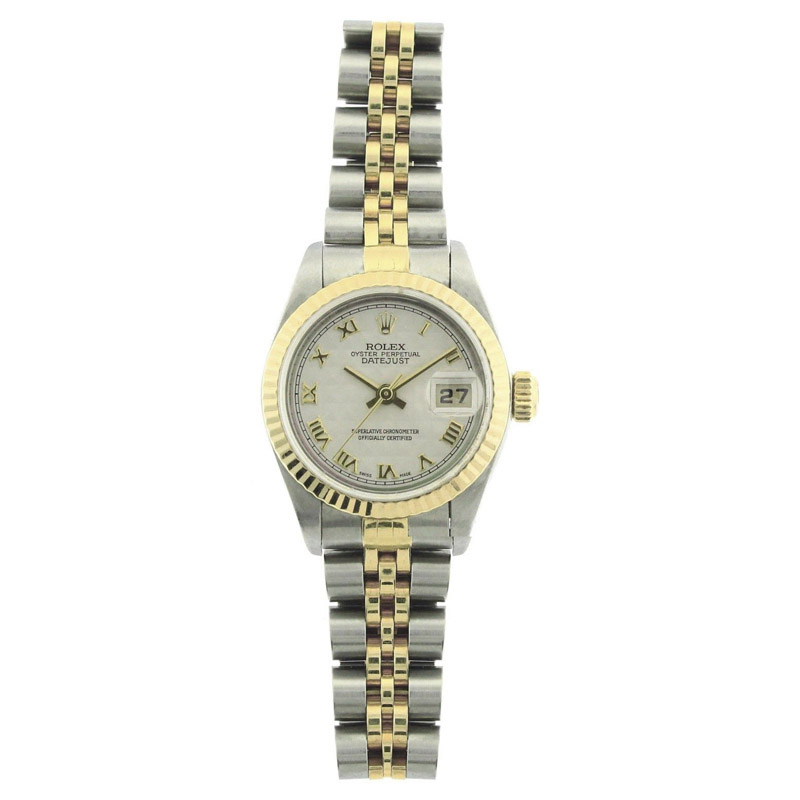 """Image of """"Rolex Datejust 69173 Stainless Steel & 18K Yellow Gold Pyramid Roman"""""""