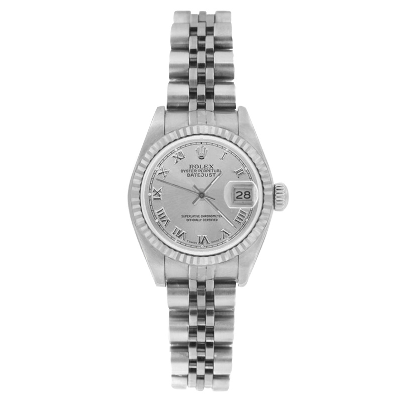 "Image of ""Rolex Datejust 69174 Stainless Steel Silver Roman Dial 26mm Womens"""