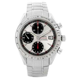 Omega Speedmaster Day Date 3211.31.00 Stainless Steel Silver Dial Automatic Chronograph 40mm Mens Watch