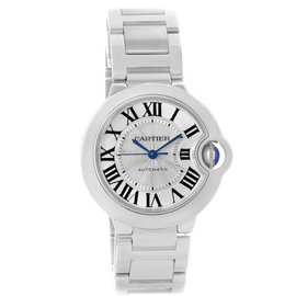 Cartier Ballon Bleu W6920046 Stainless Steel Silver Dial 36.6 Watch