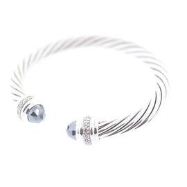 David Yurman Sterling Silver Hematite & 0.48ct Diamond Bracelet