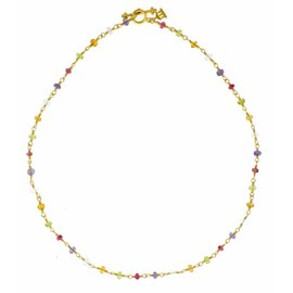 Temple St. Claire 18K Yellow Gold Karina Multi Colored Gemstone Necklace