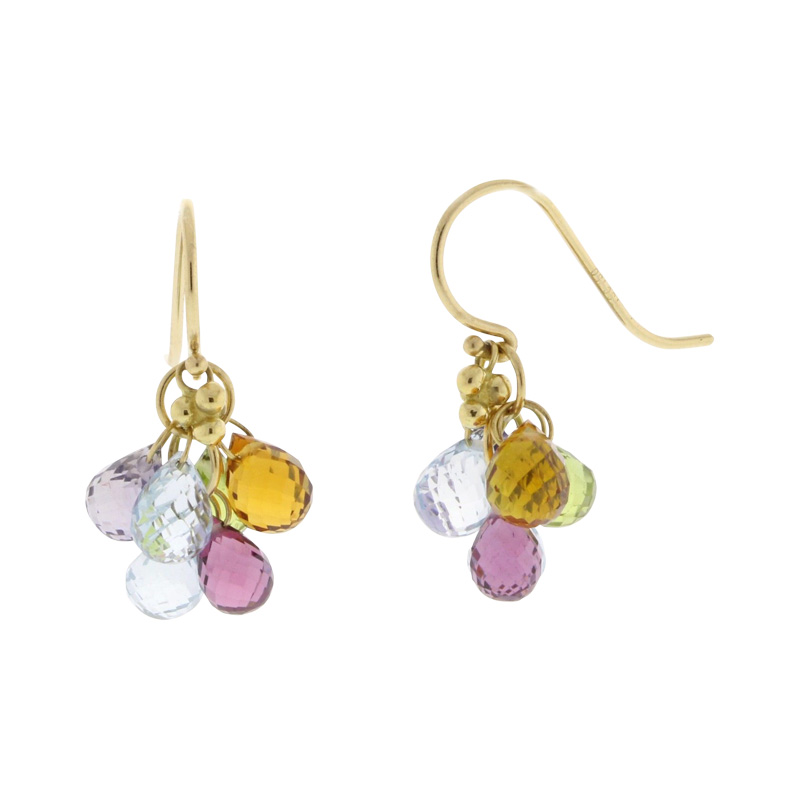 "Image of ""Temple St Claire Yellow Gold Karina Multi Colored Gemstone Earrings"""
