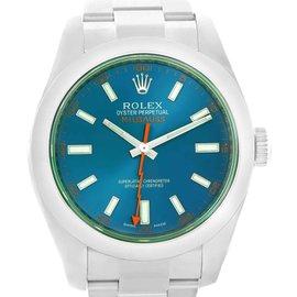 Rolex Milgauss 116400GV Stainless Steel & Blue Dial 40mm Mens Watch