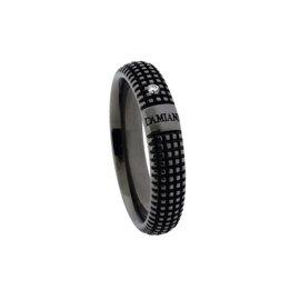 Damiani Metropolitan Dream 18K Black Gold 0.02ct. Diamond Band Ring Size 8