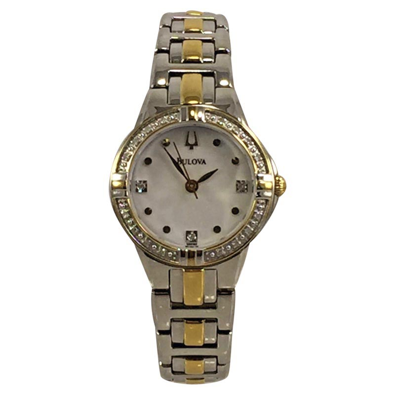 """Image of """"Bulova 98R166 Stainless Steel Yellow Gold Tone Mother Of Pearl Dial"""""""