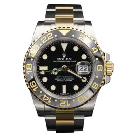 Rolex GMT-Master II 116713 18K Yellow Gold & Stainless Steel 40mm Mens Watch