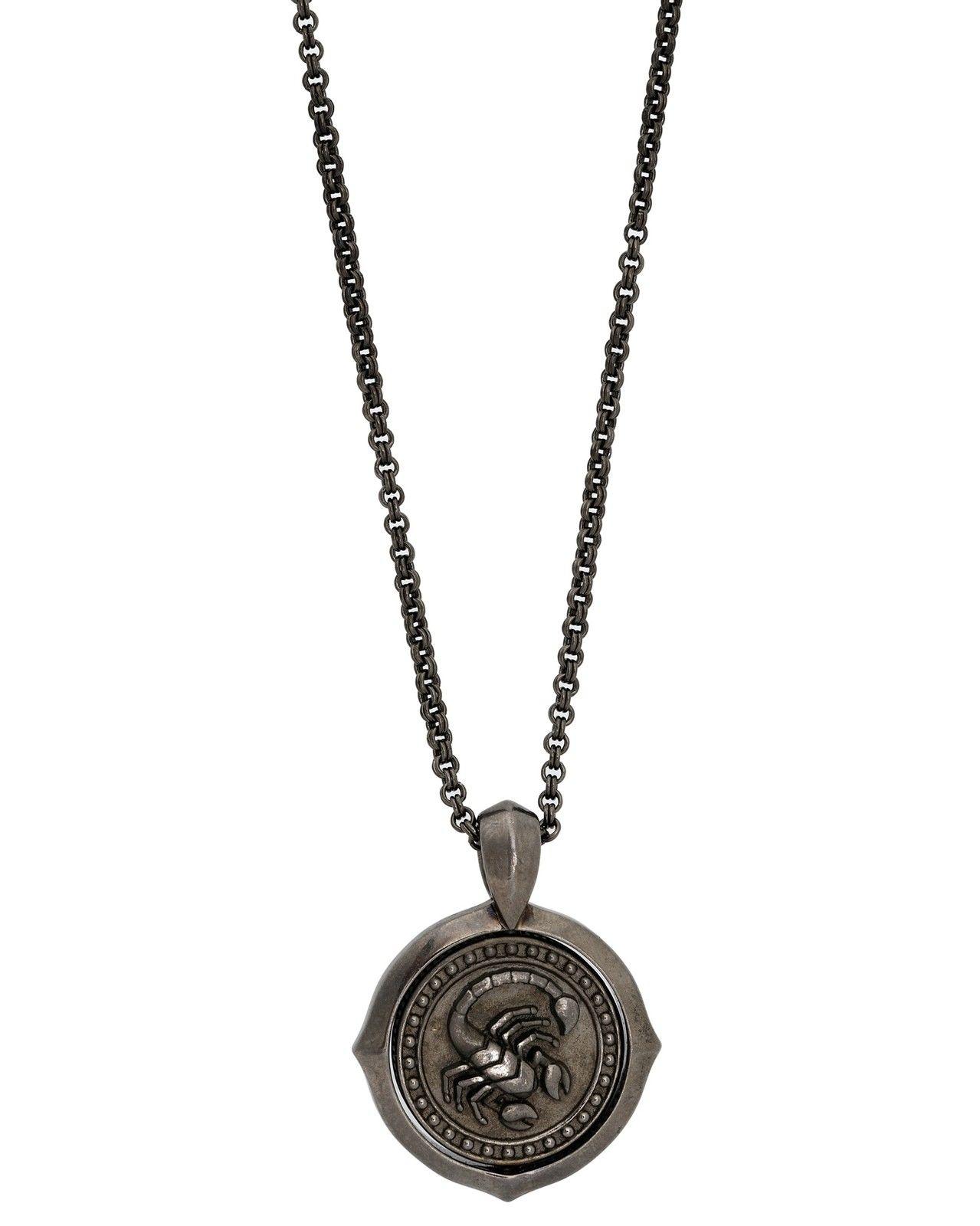 "Image of ""Stephen Webster 925 Sterling Silver Astro Flip Coin Zodiac Scorpio"""