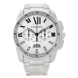 Cartier Calibre W7100045 Stainless Steel Chronograph 42mm Mens Watch