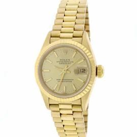 Rolex Datejust 69178 18K Yellow Gold & Champagne Index Dial 26mm Womens Watch