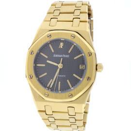 Audemars Piguet Royal Oak 18K Yellow Gold & Grey Dial Automatic 35mm Unisex Watch