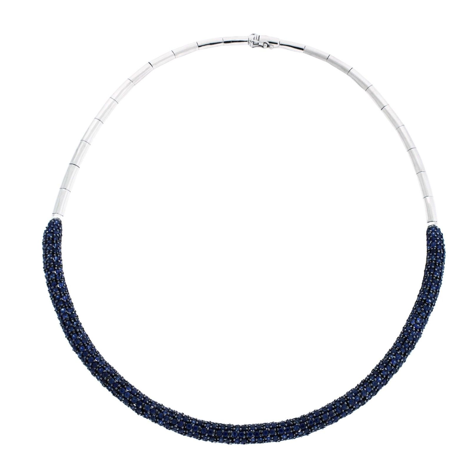 "Image of ""Effy 14K White Gold 14.07ct Sapphire Necklace"""