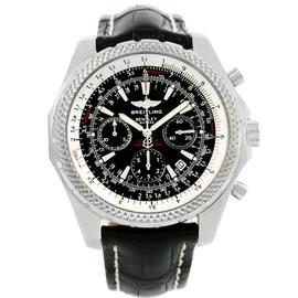 Breitling Bentley Motors A25362 Stainless Steel & Leather Black Dial Automatic 49mm Mens Watch