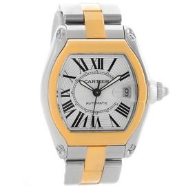 Cartier Roadster W62031Y4 18K Yellow Gold and Stainless Steel 38mm Mens Watch