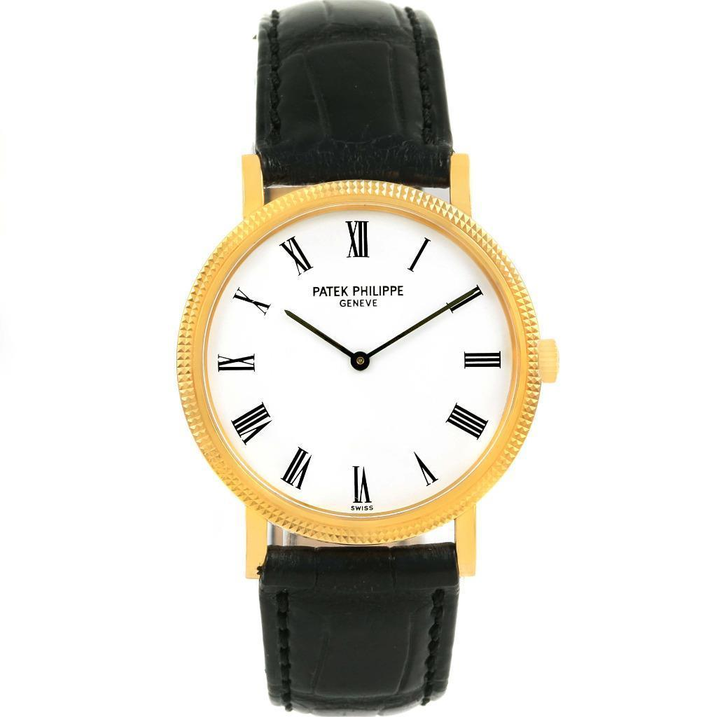 Patek Philippe Calatrava 5120 18K Yellow Gold / Leather with White