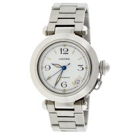 Cartier Pasha C W31074M7 Stainless Steel & White Dial Automatic 35mm Unisex Watch