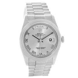 Rolex President Day-Date 118209 18K White Gold 36mm Mens Watch