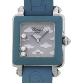 Chopard Happy Sport Square 27/8896 Stainless Steel / Rubber 27mm Womens Watch