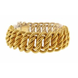 Buccellati 18K Yellow Gold Wide Textured Bracelet