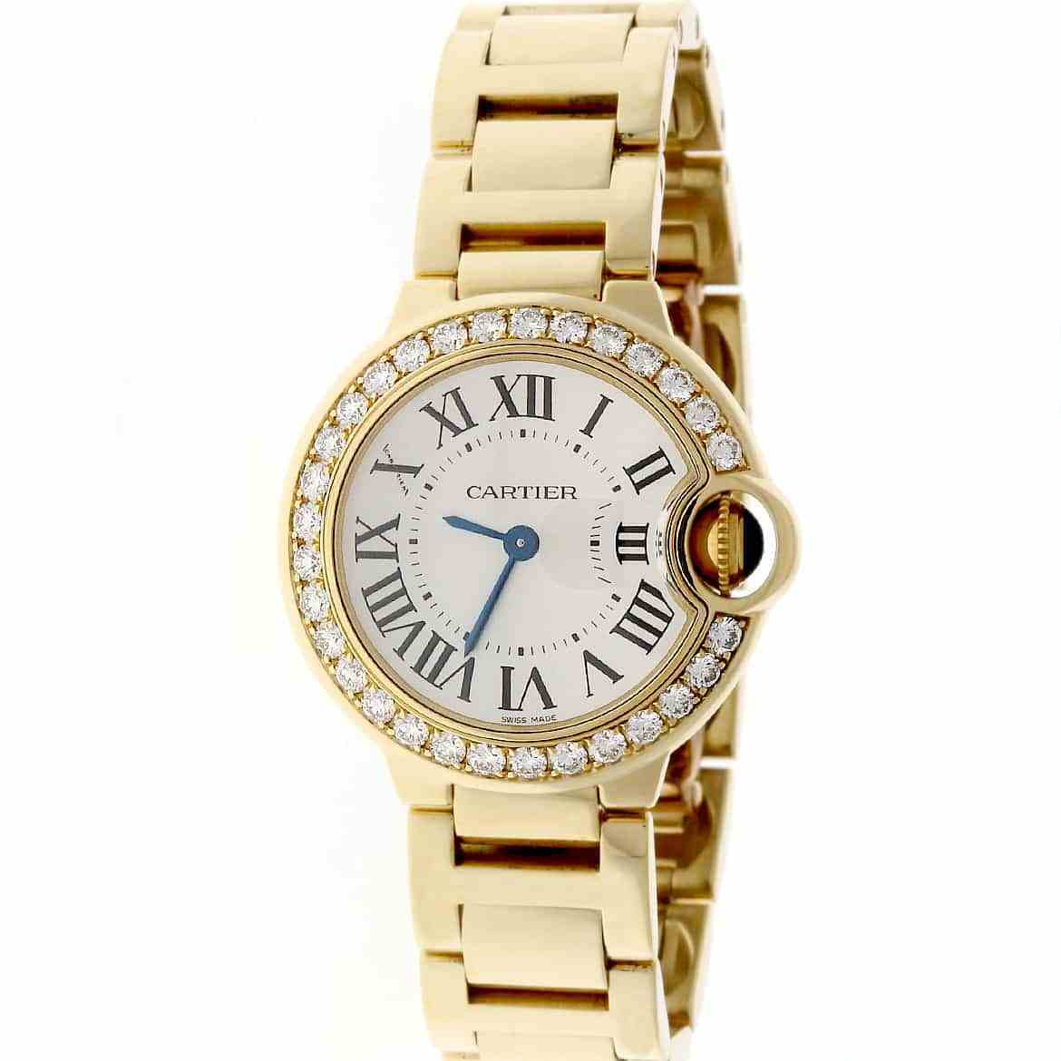 Cartier Ballon Bleu We9001Z3 18K Yellow Gold 28mm Womens Watch