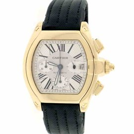 Cartier Roadster Chronograph XL W62021Y2 18K Yellow Gold 40mm Mens Watch